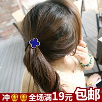 Cute headband candy color four leaf grass tousheng hair rope headband rubber band hair accessory