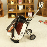 Metal vintage golf ball bag storage rack fashion home decoration wine rack