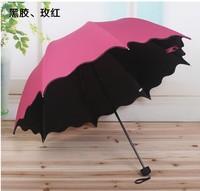 2014 New Arrival Cheap Korean style Vinyl sun umbrellas umbrella UV water change Clear umbrella 50% off Blue Green Red Rose