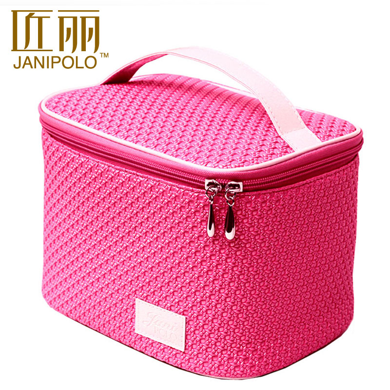 Fashion cute cosmetic bag large capacity portable female bag travel pouch box(China (Mainland))