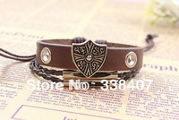 Roman-style Rretro Vintage Handmade Beaded Bracelets, Leather Charm Men Bracelets, Wholesale 30 PCS/LOT