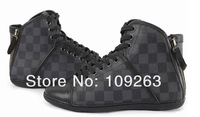 mens BRAND leather high Tops sneakers Europe style famous shoes cheap price comfortable business Top Quality FREE SHIPPING
