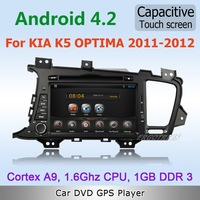 Pure Android 4.0 WiFi 3G Car DVD GPS Stereo For KIA K5 Optima 2011 2012 with Radio BT IPOD 1080P TV Capacitive Screen Free maps