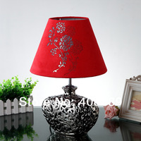 Ofhead hildebrand red fabric lamp modern brief fashion new classical ceramic
