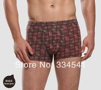 Wholesale Men's mid-waist bamboo fiber Boxer Shorts 2pcs/lot antibacterial pants