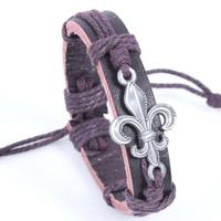 Wholesale New 2014 fashion men jewelry alloy bracelet love flower accessories hand-woven bracelets & bangles W1037