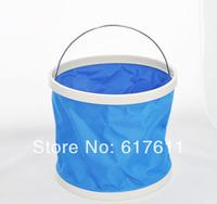 free shipping hot sale Collapsible bucket outdoor fishing bucket multifunctional car wash glove bucket car washing supplies