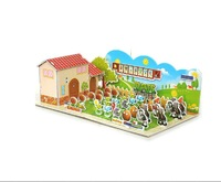 3D Three-Dimensional Jigsaw Puzzle  Paper Toy for Children