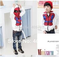 New Kids Spiderman Coat Boys Hoodies Girls Full Zipper Mask Jacket Size 2-6Year