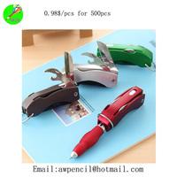 Offer lovely folding light  pen  Min order 1000pcs