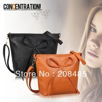 2014 fashion NEW HOT messenger bags with bowknot pu summer 8-colors women's handbag summer packages high quality shoulder TOTES