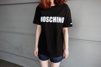 Hot sale 2014 spring and summer women alfabeto print short-sleeved t-shirts cotton bottoming t shirt Y0025