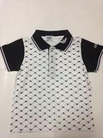 New's brand chirdren ,children's   turn-down collar  short sleeve shirt,fashion children's gray red bule color cotton t-shirt