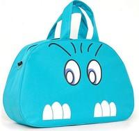 2014 New big cat face large capacity travel canvas bag sports bag/Big Size Women Messenger Bag blue pink