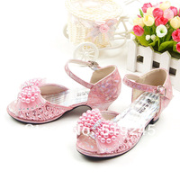 New 2014 Children/Kids Sandals for Girls Princess Girls Sandals High-heeled Latin Dance Summer Shoes for Girls Free ShippingA136