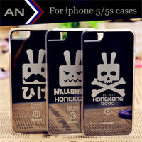 2014 New Hot Cool Rabbit Mirror Surface Case For iPhone 5 5s Cases High Quality Plastic Case For iPhone 5s Cases Free Shipping