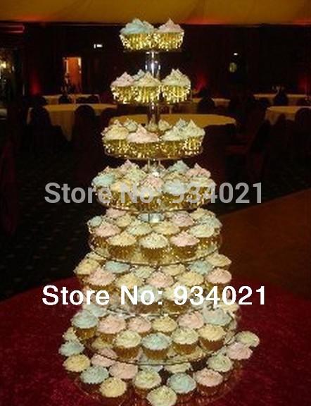 8 Tier Acrylic Wedding Cake Display / Round Acrylic Cupcake Stnad(China (Mainland))