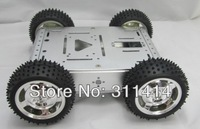 1set 4WD Metal Motor Full Aluminum Alloy Smart Car Robot Chassis Kit Development Platform Brand New Retail Promotion