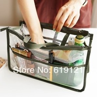 DHL Free shipping New Ariival 6 Colors Promotions Lady's Fashion Clear Organizer Handbag Travel Bag Organizer Clear Bag
