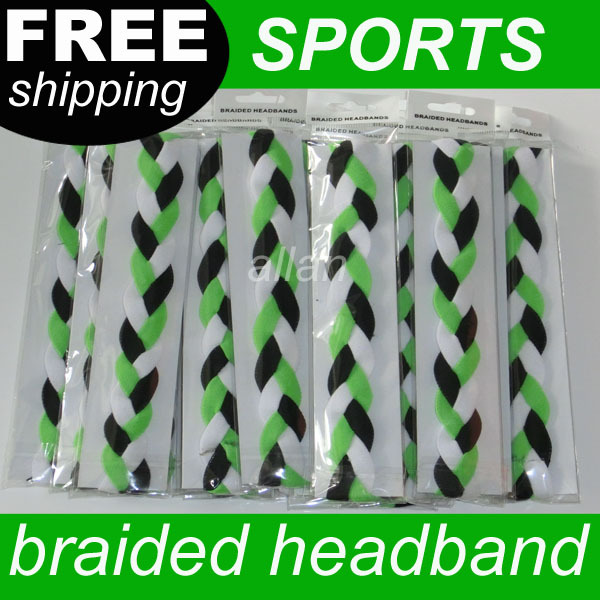 high quality pretty braided design headbands with silicone for girls(China (Mainland))