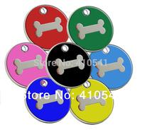 New Pet Items Free Shipping Mix Colors 30MM*30MM 300pcs/lot  Zinc Alloy Dog Bone Shaped Pet tags Fashion Pet ID Tags Dog Tags
