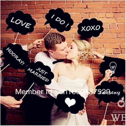 Funny Wedding Party Photos Photo Booth Props Cloud Speech Bubbles On A Stick Bridal Shower Favor