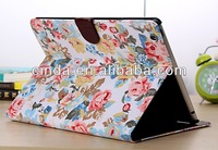 New Flower Leather  Wallet Book Case Cover Pouch for Apple iPad 2 3 4+FILM
