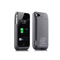 3000mAh power bank external battery charger adapter backup box for apple iphone 4 4s ( Black )free shipping