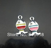 100pcs  Mix Color Tropical Fish Hang Pendant Charms Fit Pet Collar Phone Charms  NO:0011