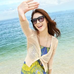 Explosion cardigan ! Korean summer sun shirt air -conditioned shirt tales Sleeve smock coat women's sweaters 02 #(China (Mainland))