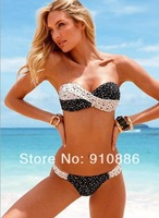 New 2014 Super sexy bikini Swimsuit Classic black and white with a bikini, latest swimsuit