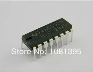 Free Shipping 100PCS/LOT Integrated circuits 74HC595 74HC595N DIP-16(China (Mainland))