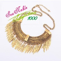 Korean Retro Curved Water Drop Gold Chain Necklaces & Pendants New 2014 Fashion Jewelry S127