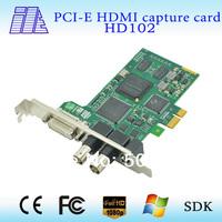 On sale1HD+ Dual SD  video capture card 1 3G/HD/SDI,HDMI,DVI,VGA,YPBPR,CVBS, signal input