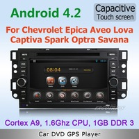 Pure Android 4.0 WiFi 3G Car DVD GPS Stereo For Chevrolet Epica Capativa Aveo Lova Spark Optra with Capacitive Screen Free map