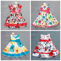 Free Shipping Children's clothing summer Next Retail high-quality 100% cotton girl's dress princess