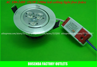 100pcs/lot free fedex AC180-240V / 220V 3W 240lm Aluminium warm white and white high power led ceiling lamp surface mounted