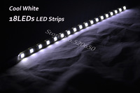 Wholesale80pcs Hot Sale Nolvety Items Flexible Mini COOL WHITE 18LEDs 5050SMD Super Bright LED Strips for Cars&Vehicle&Motocycle