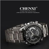 Sports Racing Men Full Steel Strap Quartz Watches 2014 New Clock Waterproof 10m Fashion Analog Wristwatches  cx-029a