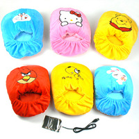 Free shipping Usb warm foot shoes warm feet treasure usb heating big slippers unpick and wash usb warm feet treasure