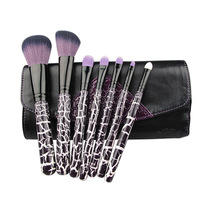 New Arrive: 7Pcs Professional Makeup Brush Sets Upscale wooden handle Nylon hair Make up brushes tools