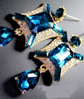 2014 newest Trend rhinestones new statement Earrings  for women jewelry at Factory Price