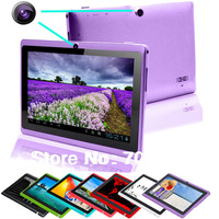 Newest Bluetooth 7 inch A23 Dual camera Tablet 7 Touch Screen Capacitive Dual core WIFI OTG 512MB mini  Android 4.2 Tablet PC