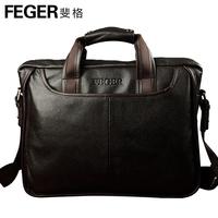 Feger bags man bag handbag messenger bag business casual cowhide 8895 - 3