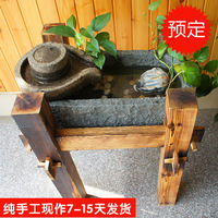Fish tank fountain home resin stonewashed shicao fountain gift