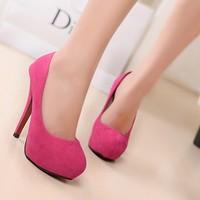 2014 Fashion New  high quality  woman Spring Summer ultra high heel sexy pump, OL style shoes EU37,38,39 ,40 US6-9#