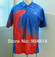 Wholesale LI-Ning Badminton Men's Shirt Red Dragon1PY4949-1Clothes Shirts / Sports Clothes / Table Tennis Shirt Clothes