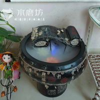 Chinese style home decoration soft water features fountain crafts ink wedding gift