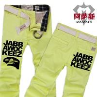 Men's clothing autumn 2013 mask jabbawockeez the trend of male slim trousers