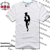 Mj memorial male lovers big 100% T-shirt short-sleeve cotton shirt clothes